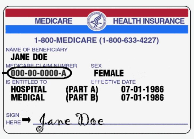 SampleMedicareCard